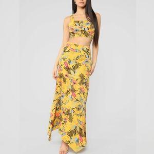 "Fashion Nova ""Desert hills"" floral skirt set"